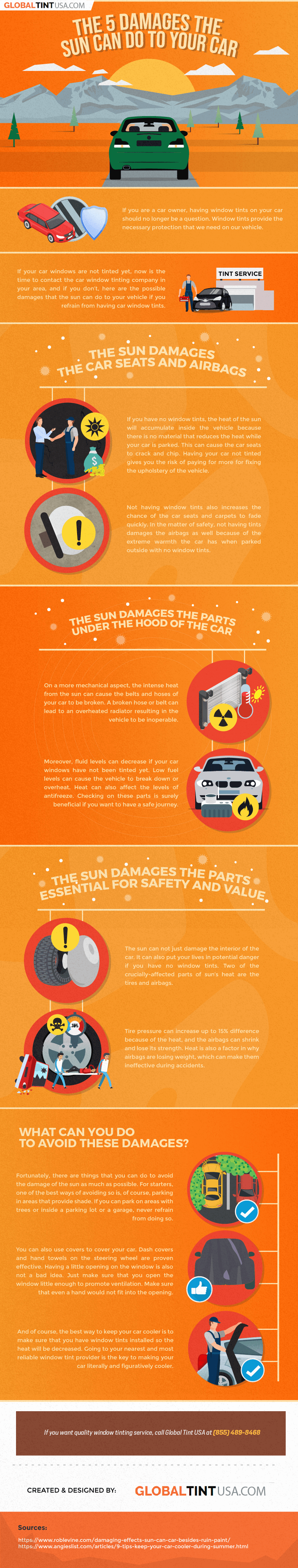 The 5 Damages That The Sun Can Do To Your Car
