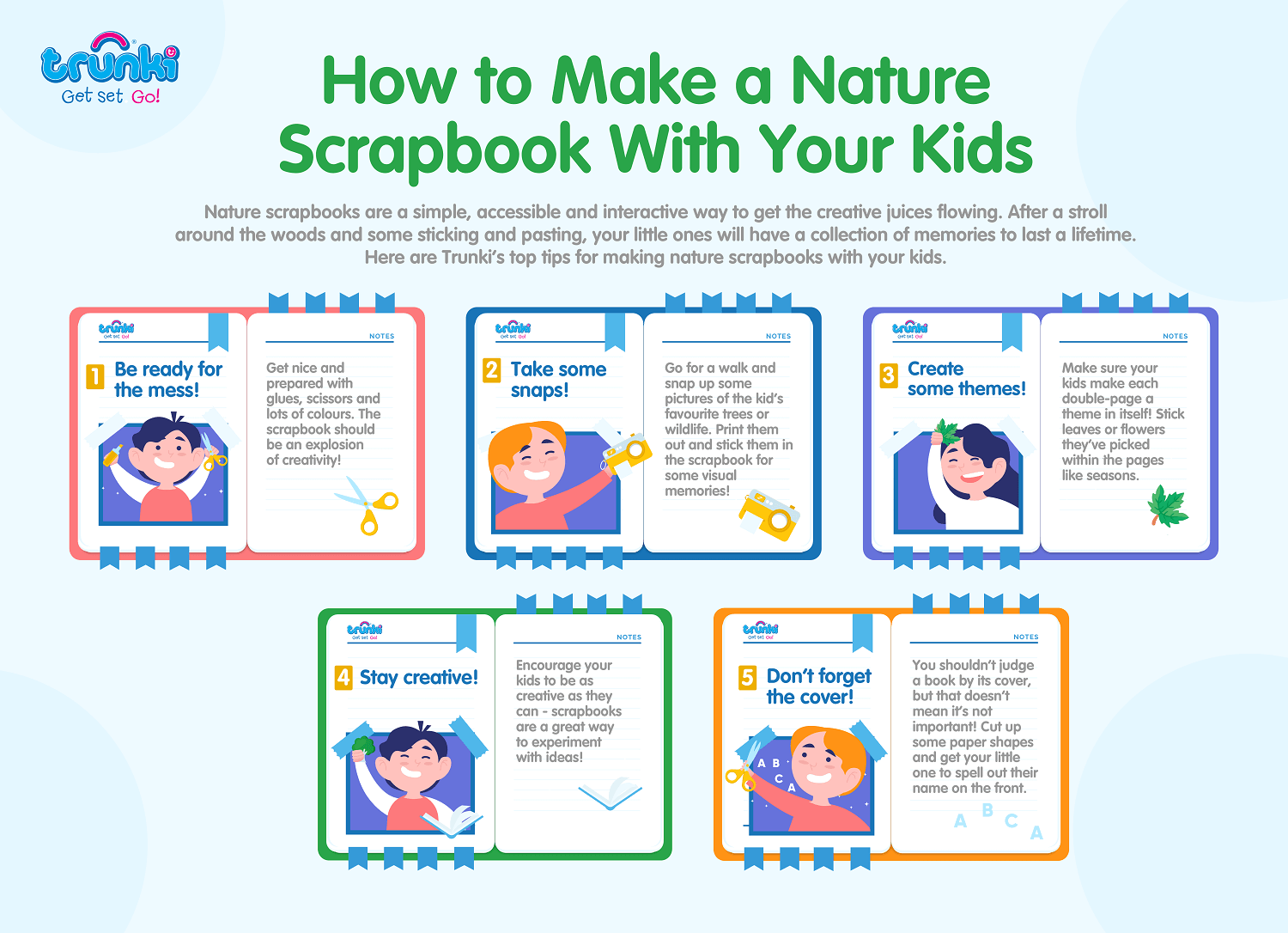 How to Make a Nature Scrapbook With Your Kids